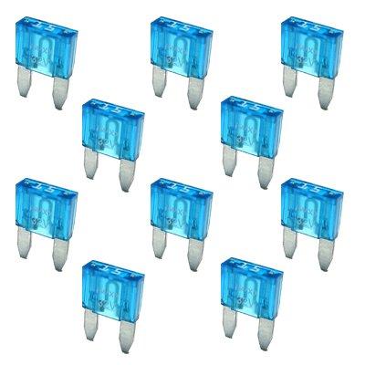10 Flachstecksicherung Mini-Sicherung 15A / 32V / blau -