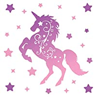 GET STICKING DÉCOR Magical Unicorn/Horse Wall Stickers Collection, Unicorn Swirls Unic.15, Vinyl, Multi Color.