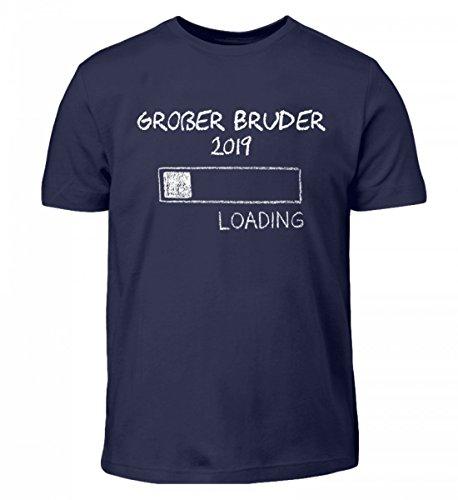 Hochwertiges Kinder T-Shirt - Großer Bruder 2019 Loading Schwangerschaft Geschwister Design Süßes Design Geschenkidee
