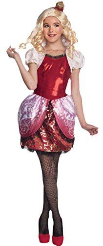erdbeerloft - Mädchen Karneval Kostüm Kleid Ever After High Apple White, Mehrfarbig, Größe 128-140, 8-10 Jahre