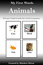 My First Words - Animals. Picture Flash Cards for Little Learners (English Edition)
