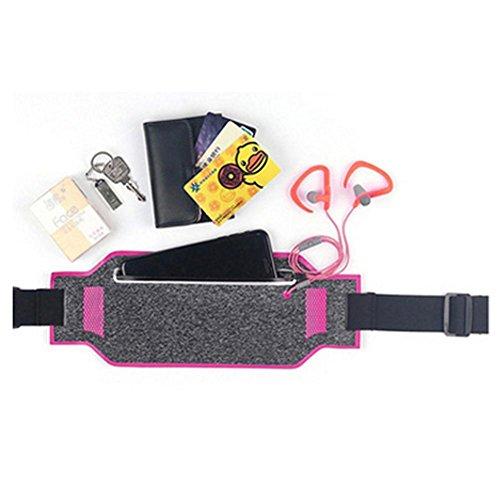 Ultra-dünne 6-Zoll-Multifunktions-wasserdichte Taillen-Tasche, Sport-Taillen-Satz, unsichtbares Taillen-Satz, im Freien laufendes elastisches Musik-Taillen-Satz pink