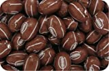 Luxury Solid Milk Chocolate Rugby Balls BROWN