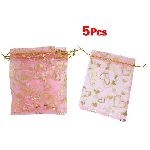 Bolsa del regalo - SODIAL(R) 5pzs Bolsa del regalo de boda de impresio