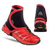 Oyamihin Couvre-Chaussures de Protection Anti-Sable pour la Course à Pied Jogging Randonnée Randonnée - Noir Rouge
