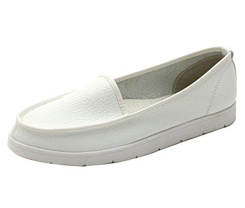 DQQ punta arrotondata, da donna, antiscivolo, per scarpe da uomo White
