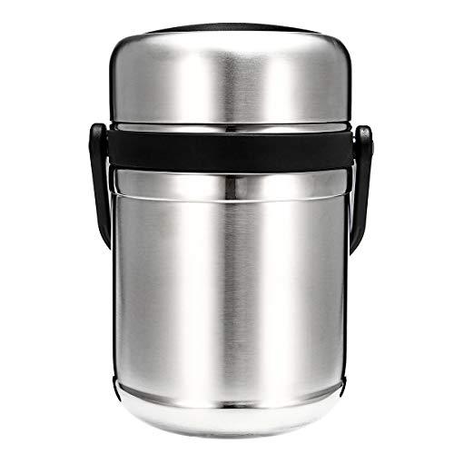 TENGGO Outdoor Edelstahl-Wanderung Vakuum Lunch Box Edelstahl Hot Food Container Wärme Pres-C -