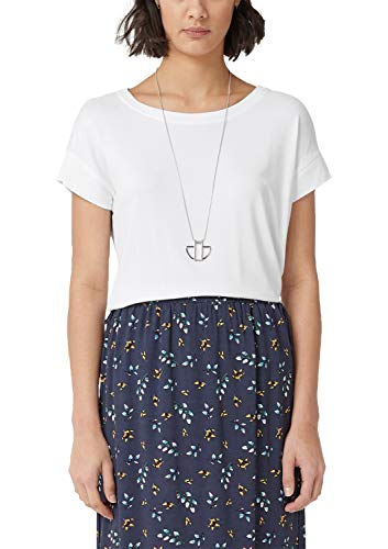 s.Oliver Damen 04.899.32.5098 T-Shirt, Weiß (White 0100), 40 -