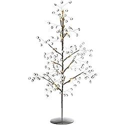WeRChristmas - Decorazione natalizia a forma di albero con palline, con 15 luci LED bianco caldo, 60 cm