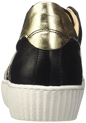 Mjus Damen 685127-0102-0003 Sneaker Mehrfarbig (Nero+Platino)
