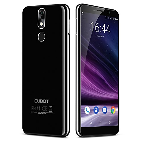 CUBOT Power 2018 4G LTE Smartphone ohne Vertrag, 5.99 Zoll 18: 9 FHD+ Multi-Touchscreen, Android 8.1 Octa-Core, 6GB RAM 128GB ROM, 6000mAh mit Schnellladung, Dual Kameras, Dual 4G Netzwerk (Schwarz)