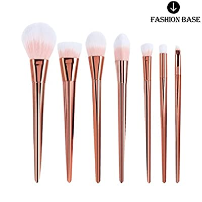 Fashion Base® 7 pcs Pro Makeup Brushes Cosmetics Set Soft Eyeshadow Eyebrow Brush Powder Foundation Blending Blush Face Brushes Tool Make Up Brushes Set