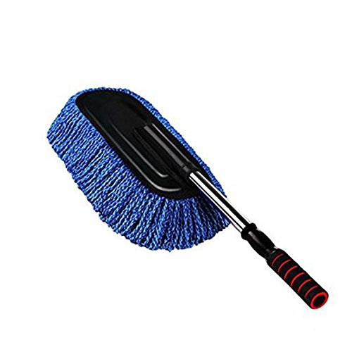 jiele Car cleaning brush Smells, microfiber, removable, microfiber handle for car wash, blue color