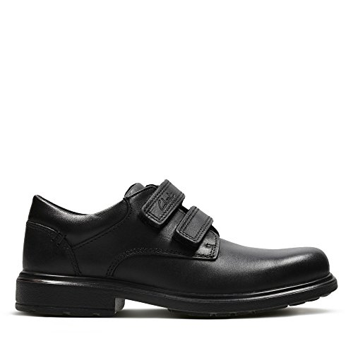 Clarks Remi Pace Inf Boy's School Shoes 9.5 Black Leather