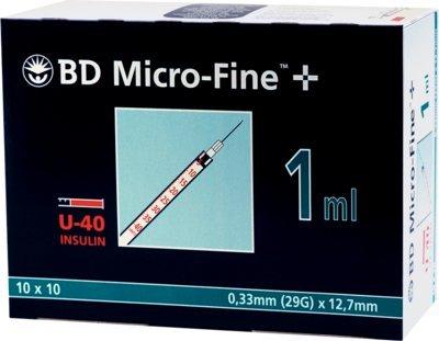 BD MICRO FINE+ U 40 Ins.Spr. 12,7 mm, 100X1 ml