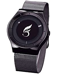 Pooja Fashion New Arrival Special Collection Attractive Black Dial Black Strap Stylist Creative Analog Watch For...