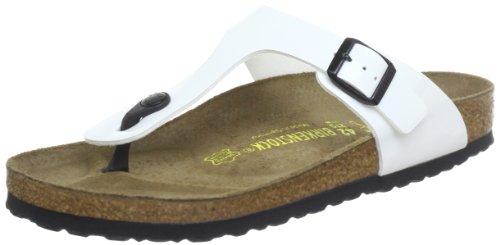 Birkenstock Gizeh, Unisex - Adults Sandals, White, 4.5 UK (37 EU)