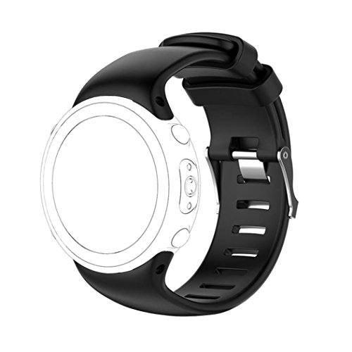 Wawer Bracelet pour Suunto D4/D4i Novo Montre, nouvelle arrivee Courroie douce de bande de Silicagel de rechange pour la montre de Suoto D4/D4i Novo (A)
