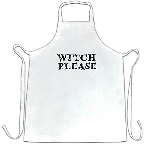 lustige Halloween Schürze des Chefs Witch Bitte Neuheit Slogan White One Size