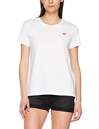 Levi's Damen Perfect Tee T-Shirt, Weiß (White Cn-100xx 0006), Large -