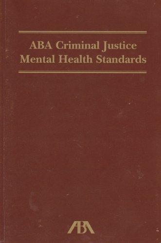 Aba Criminal Justice Health Standards