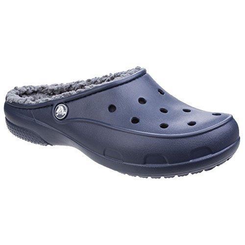 crocs Damen Plüsch Futter Clogs (38-39 EU) (Marineblau)