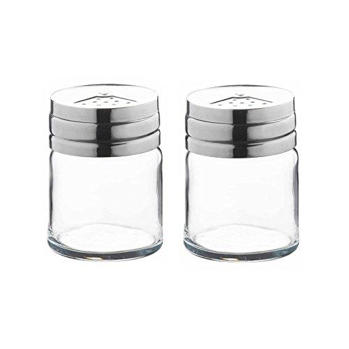 a3ebf95fe4cc59 Pasabahce Salière et poivrière en verre transparent support de