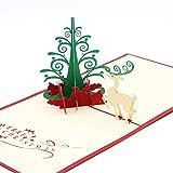 Neujahr Grußkarten Frohe Weihnachten Karten Weihnachtsbaum Winter Geschenk Pop UP Karten Weihnachtsdekoration Aufkleber Laser Cut