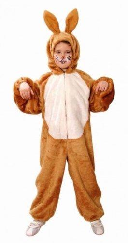 Tier-Kostüm: Hasen-Overall, braun, für Kinder, Kinder-Größe:164 (Tiere Kostüme)