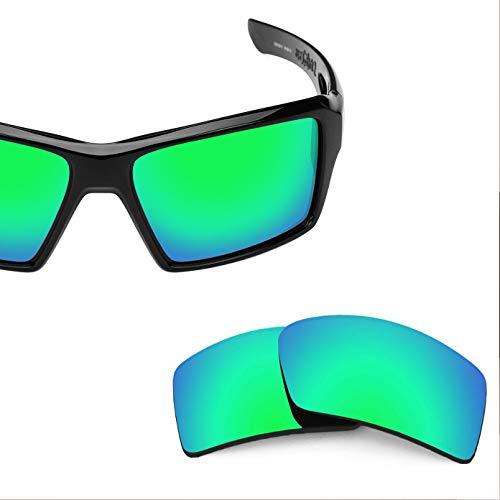 Neue Marke polalized Ersatz-Objektive für Oakley Augenklappe 2Sonnenbrille Eiche & Ban mehrere Farbe Optionen weiß im Rasterdesign, Emerald - Polarized