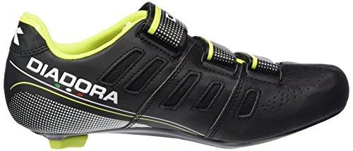 Diadora Unisex-Erwachsene Trivex II Radsportschuhe-Rennrad Schwarz (black/white/yellow fluo3740)