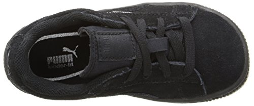 Puma High Risked Black White Suede Youths Trainers Black/Puma Silver