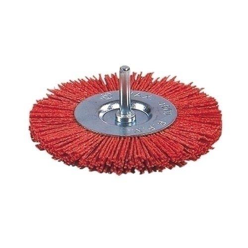 Ratio 6652h75 - Brosse circulaire nylon rouge 75 mm Rat