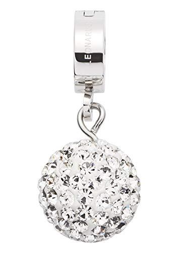 JEWELS BY LEONARDO DARLIN'S Damen-Anhänger Brillante, Edelstahl mit kleinen Kristallen und Mini-Clip, CLIP & MIX System, Größe (B/H/T): 10/22/11mm -
