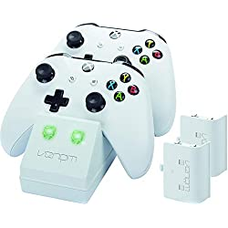 Venom Twin Docking Station with 2 x Rechargeable Battery Packs: White - Xbox One - [Edizione: Regno Unito]