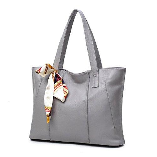 Damen-Tasche Einfache Mode Handtasche Schulter Diagonale Paket Gray