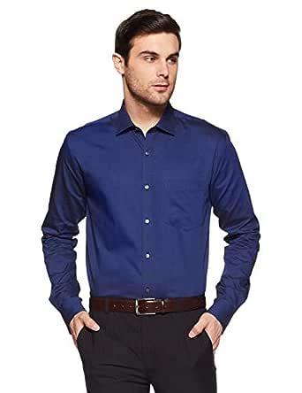 Park Avenue Men's Geometric Print Slim Fit Formal Shirt (PMSX11872-B8_Dark Blue_44)