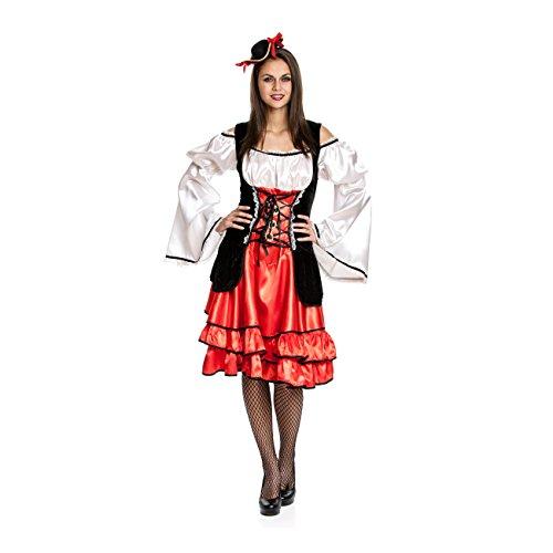 Kostümplanet® Piraten-kostüm Damen sexy Piratin-Kostüm Frauen Größe 36/38