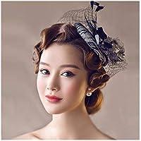 Bonnet donna, clip del cappello donne elegante Xagoo Fashion Party con velo cappello cerimonia di nozze(stile 3)