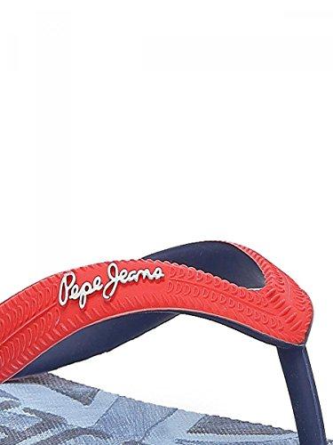 PEPE JEANS - Tongs souple ado garçon pepe jeans red