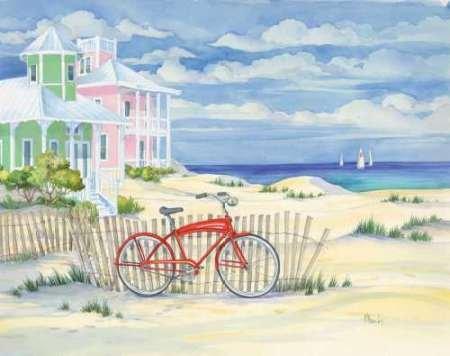 Beach Cruiser Cottage i Brent disponibile, Paul-Stampa artistica su tela e carta, Tela, SMALL (19 x 15 Inches