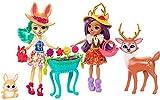 Mattel Enchantimals FDG01 Gartenzauber Spielset mit Hasen-Puppe, Reh-Puppe und ihren Tierfreunden