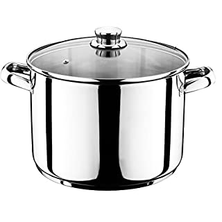 12 Liter Universal Kochtopf mit Glasdeckel Suppentopf Universaltopf Topf Eintopf INDUKTION (12 Liter)