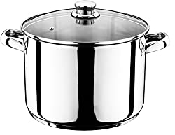 Smartweb 10 Liter Universal Kochtopf mit Glasdeckel Suppentopf Universaltopf Topf Eintopf INDUKTION (10 Liter)