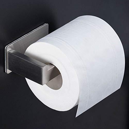 Toilettenpapierhalter ohne bohren, klopapierrollenhalter Selbstklebend Edelstahl Klopapierhalter Wc klopapierrollenhalter Halter Rollenhalter Klorollenhalter Papierhalter für Küche und Badzimmer