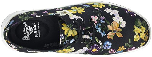 Dr. Martens Cavendish Df Black Darcy Floral Fine Can, Sneaker Donna Nero (Black)