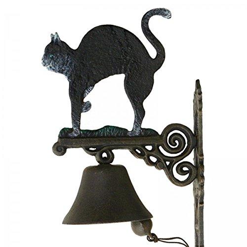 Glocke Katze Türklingel Schelle Gusseisen für Haustür Eingang Hof Keller Garten Nostalgie