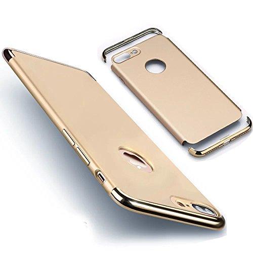 Détachable Coque pour iPhone 8 Plus / 7 Plus [360 Degrees Protection] Housse, Vandot Ultra Slim Thin Matte Housse Couverture Étui pour iPhone 8 Plus / iPhone 7 Plus 5.5 Pouces Case Anti-rayures Antich Scission-or