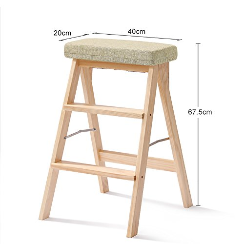 ChangDe Holzstufenhocker Tragbare Küche Holz Trittleiter Homewares Massivholz Trittleiter Leiter für Erwachsene Multifunktions Hohe Hocker Bank Trittleiter aus Holz (Color : #4)