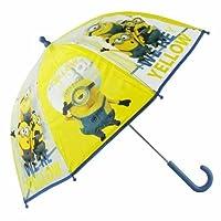 Minions Bubble Kinder Regenschirm Transparent Gelb